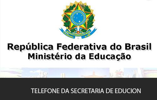 telefone da Secretaria da Educação